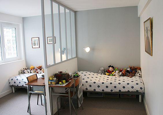 d limiter des espaces dans une chambre pour deux un atelier au fond des bois. Black Bedroom Furniture Sets. Home Design Ideas
