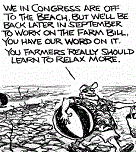 Pat Oliphant on the US congress vs the drought.