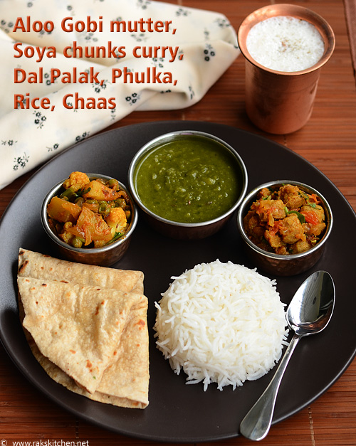 North Indian lunch idea