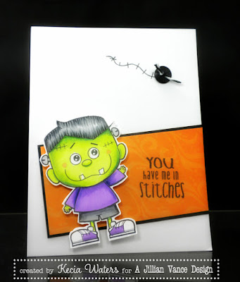 A Jillian Vance Design, Whimsie Doodles, Kecia Waters, Halloween, Copic markers