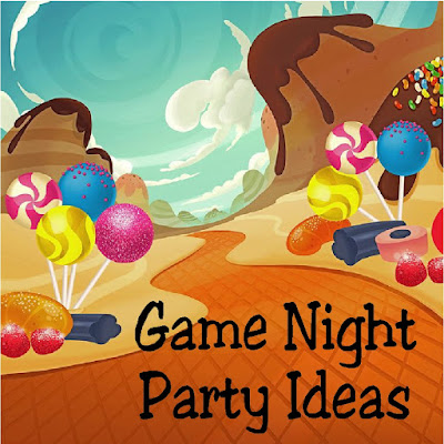Throw a fun game night with these great party ideas.  You'll find all kinds of desserts, treats, party favors, and party decorations in this great shopping guide perfect for a Game Night party featuring your favorite classic board games. #gamenight #partyideas #shoppingguide #diypartymomblog #etsy