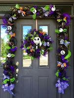 Decoración de puertas para Halloween