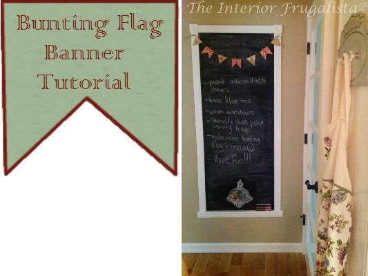 Fun scrapbook paper mini bunting flag banner!