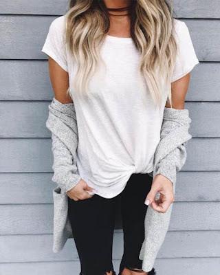 Outfits SENCILLOS básicos tumblr que haran sentir super CÓMODA y linda