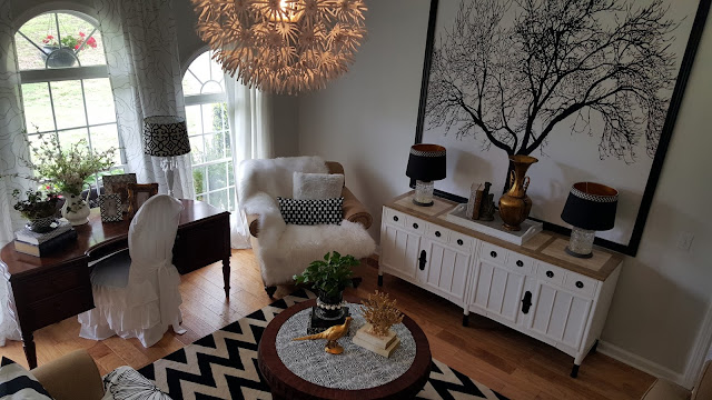 The little white cottage in the woods One Room challenge The – Living Room Looks