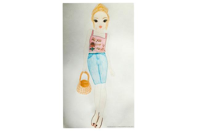 8v. lapsen suunnittelemat vaatteet