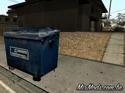 latas de lixo para gta sa