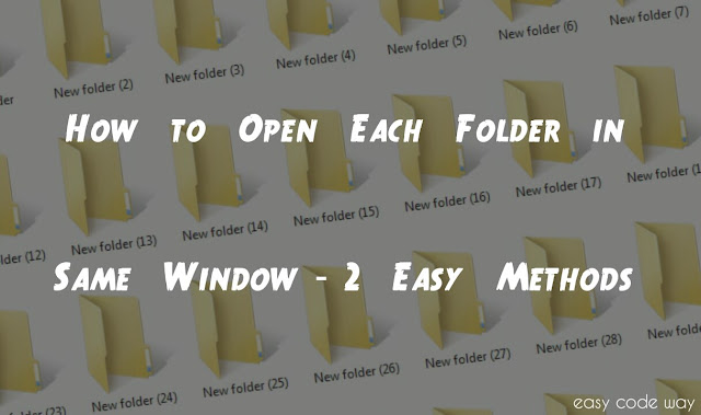Open Folder in Same Window