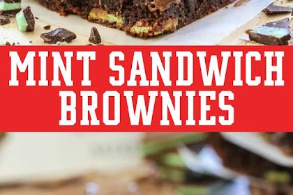 MINT SANDWICH BROWNIES