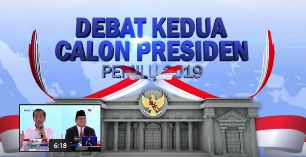 Debat Kedua Calon Presiden Pemilu 2019