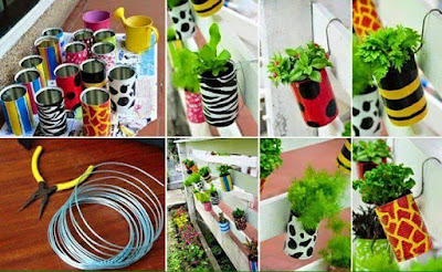 Latas recicladas para cultivar