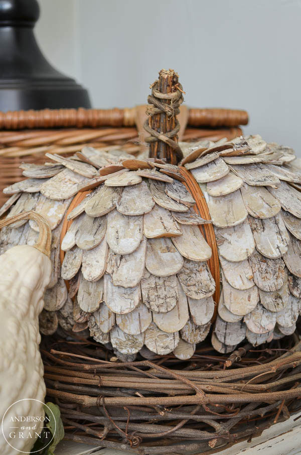 Have you bought some of these unique birch bark pumpkins yet?  Find out more at www.andersonandgrant.com