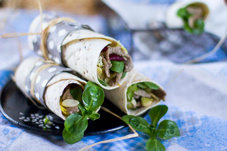 Mission wrap gourmet de solomillo de ternera cebolla for Como preparar solomillo