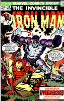 Iron Man v1 #56 marvel comic book cover art by Jim Starlin