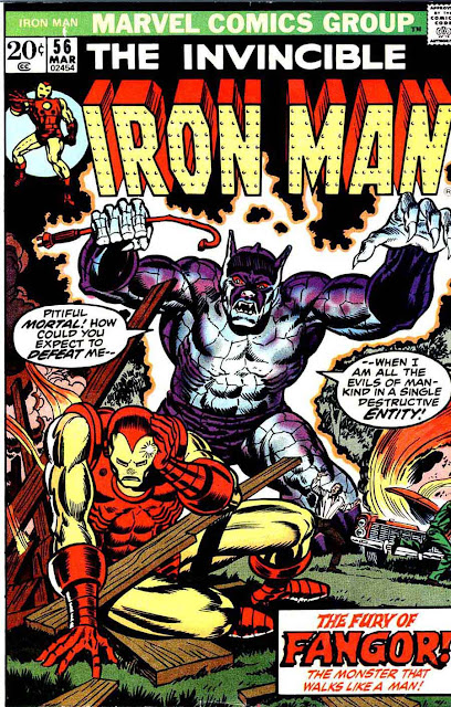 Iron Man v1 #56 marvel comic book cover art by Jim Starlin