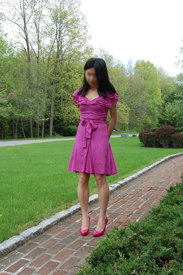 """6c892100a81e It s not a real """"wrap"""" dress but I do think it would be a flattering dress  for ladies with a bigger chest. I am average-busted but this dress made me  look ..."""