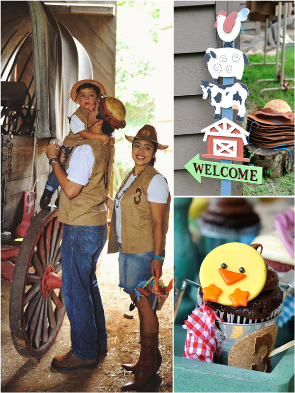A Cowboy Ranch 4th Birthday Party - via BirdsParty.com