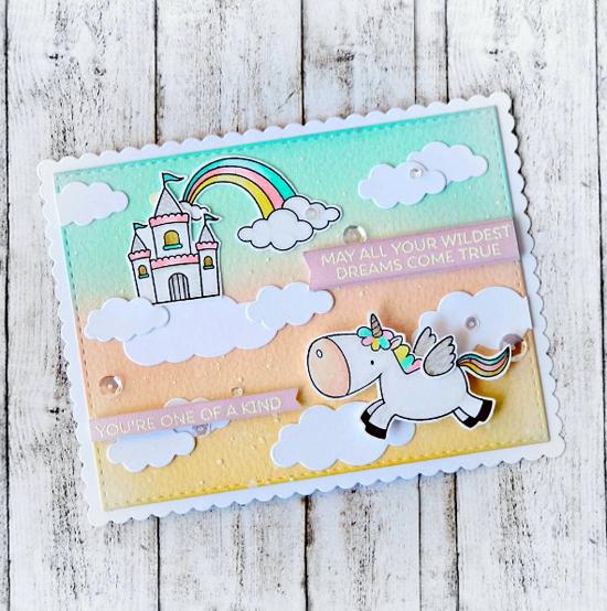 Birdie Brown Magical Unicorns stamp set and Die-namics  - Raluca Vezeteu #mftstamp
