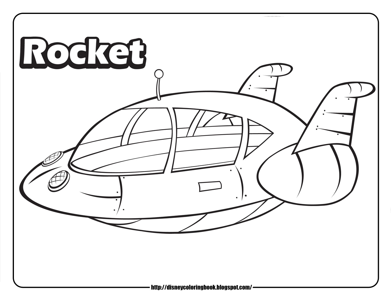 Little Einstein Rocket Ship Coloring Pages Sketch Coloring