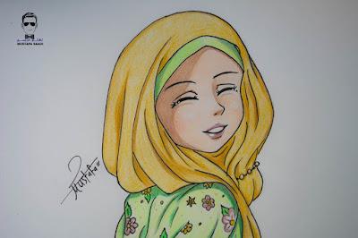تعليم رسم حجاب