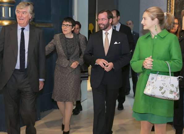 Hereditary Grand Duchess Stephanie, Hereditary Grand Duke Guillaume visited Carlos de Amberes Foundation in Madrid
