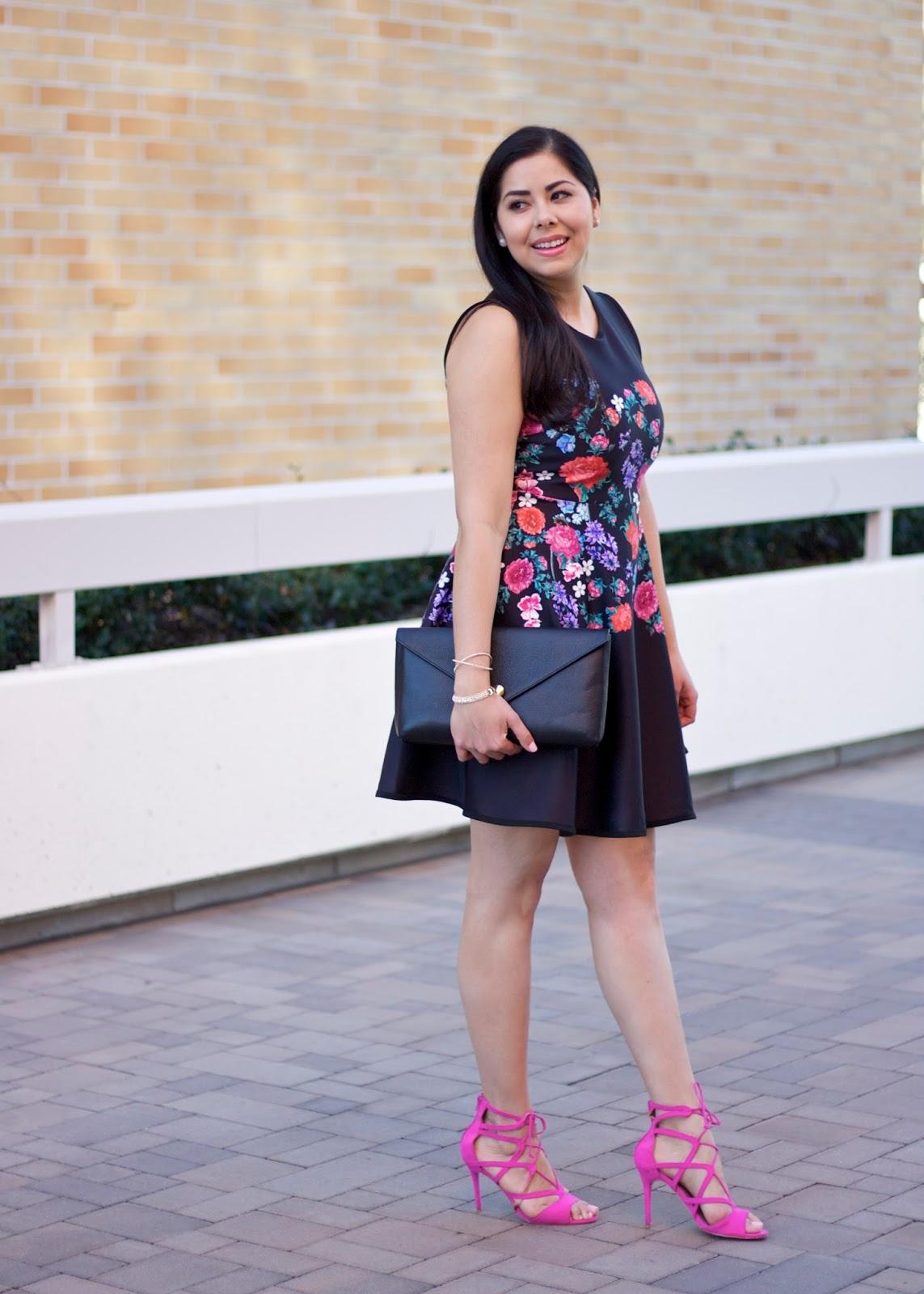 Hot pink heels, hot pink heeled sandals, pink lace up heels, justfab hot pink heels, just fab sandals
