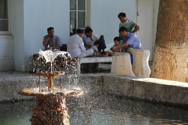 Ouzbékistan, Samarcande, bassin, © L. Gigout, 2012