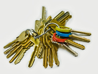Keys on key ring
