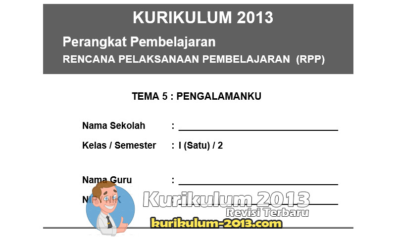 Download RPP Kurikulum 2013 SD Revisi 2016 Kelas 1 Semester 2