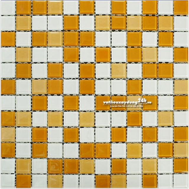 Gạch mosaic thủy tinh 23x23 mm