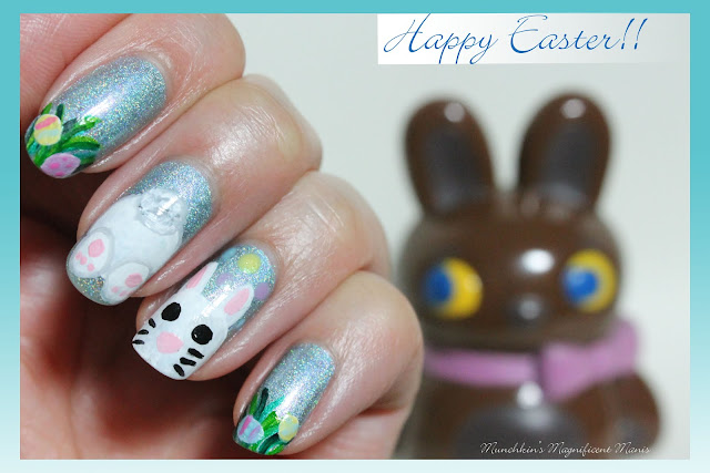 Munchkins Magnificent Manis Hoppy Easter Easter Nail Design