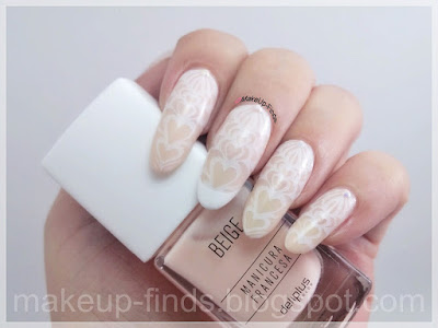 Stamping: Manicura Corazones Nude (XY-Z07)