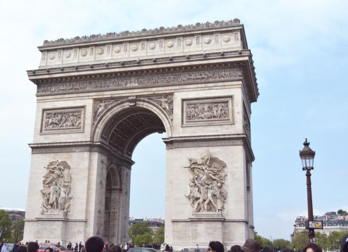 Arc of the Triomphe, Avenue des Champs-Élysées, France, Paris