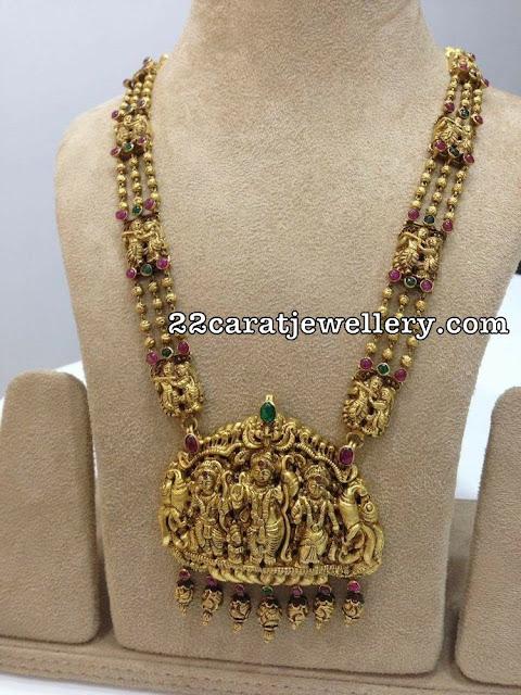 Three Layer Beads Krishna Long Chain