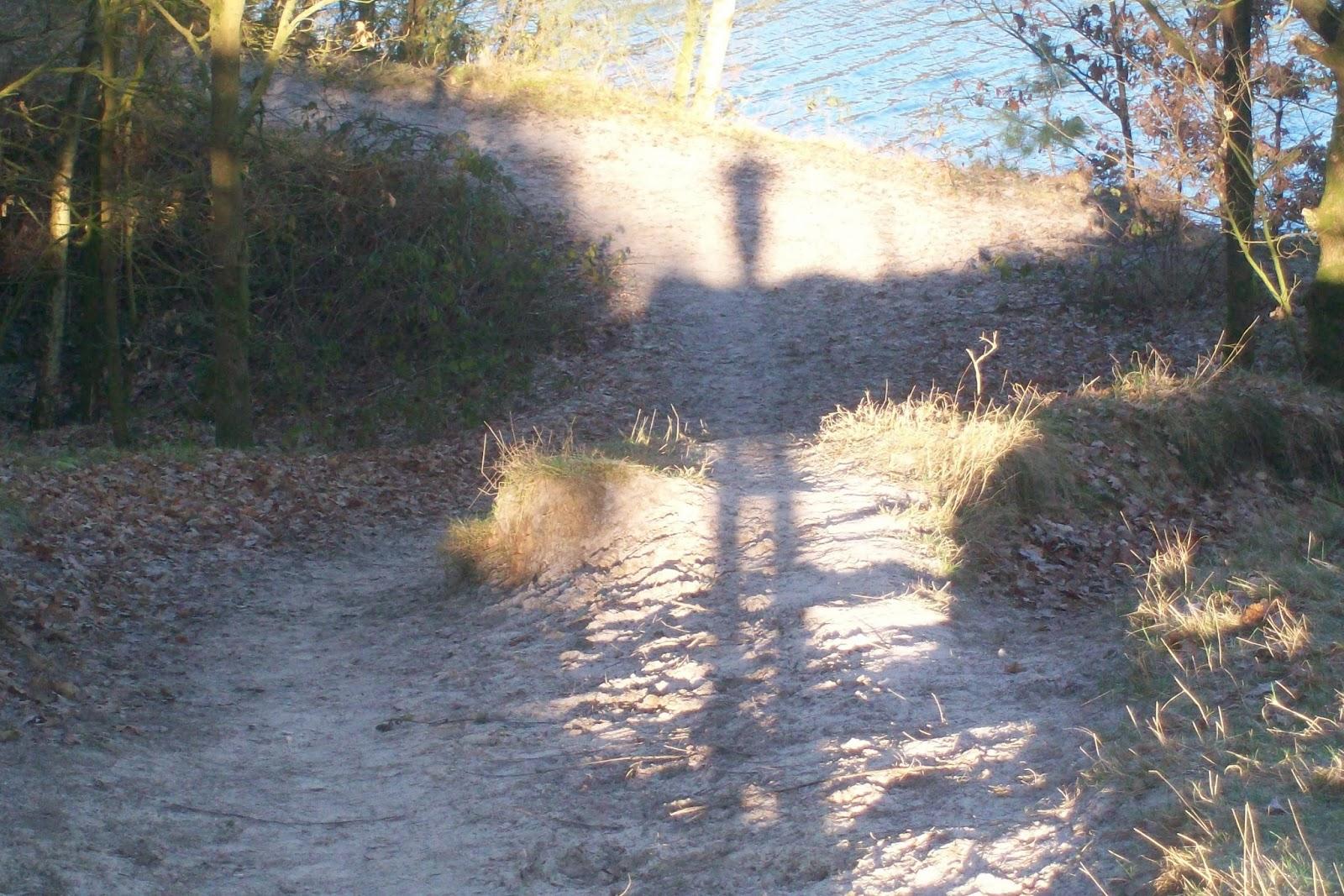 Schatten in der morgendlichen Sonne