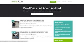 DroidPluss Template Blog SEO