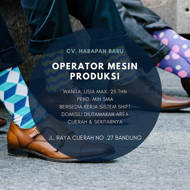 Lowongan Operator Produksi CV. Harapan Baru