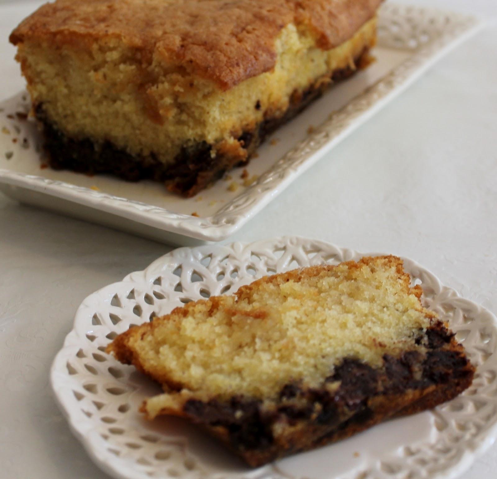 Lemon Drizzle Cake With Chocolate Chunks
