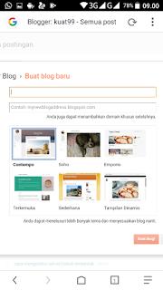 cara buat akun blogger lewat HP