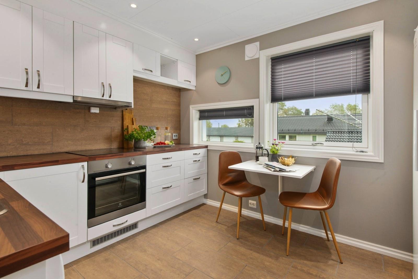 Kuchnia w mieszkaniu na przedmieściach