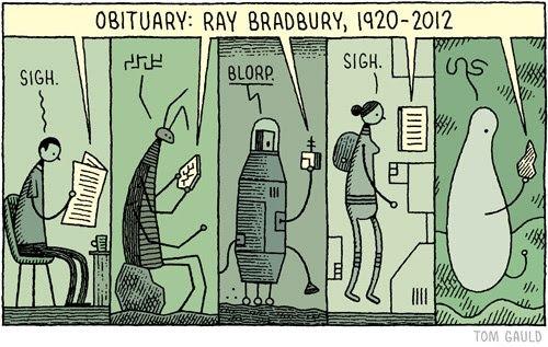 Meme sobre Ray Bradbury