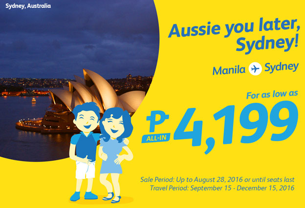 Cebu Pacific Manila to Sydney Promo