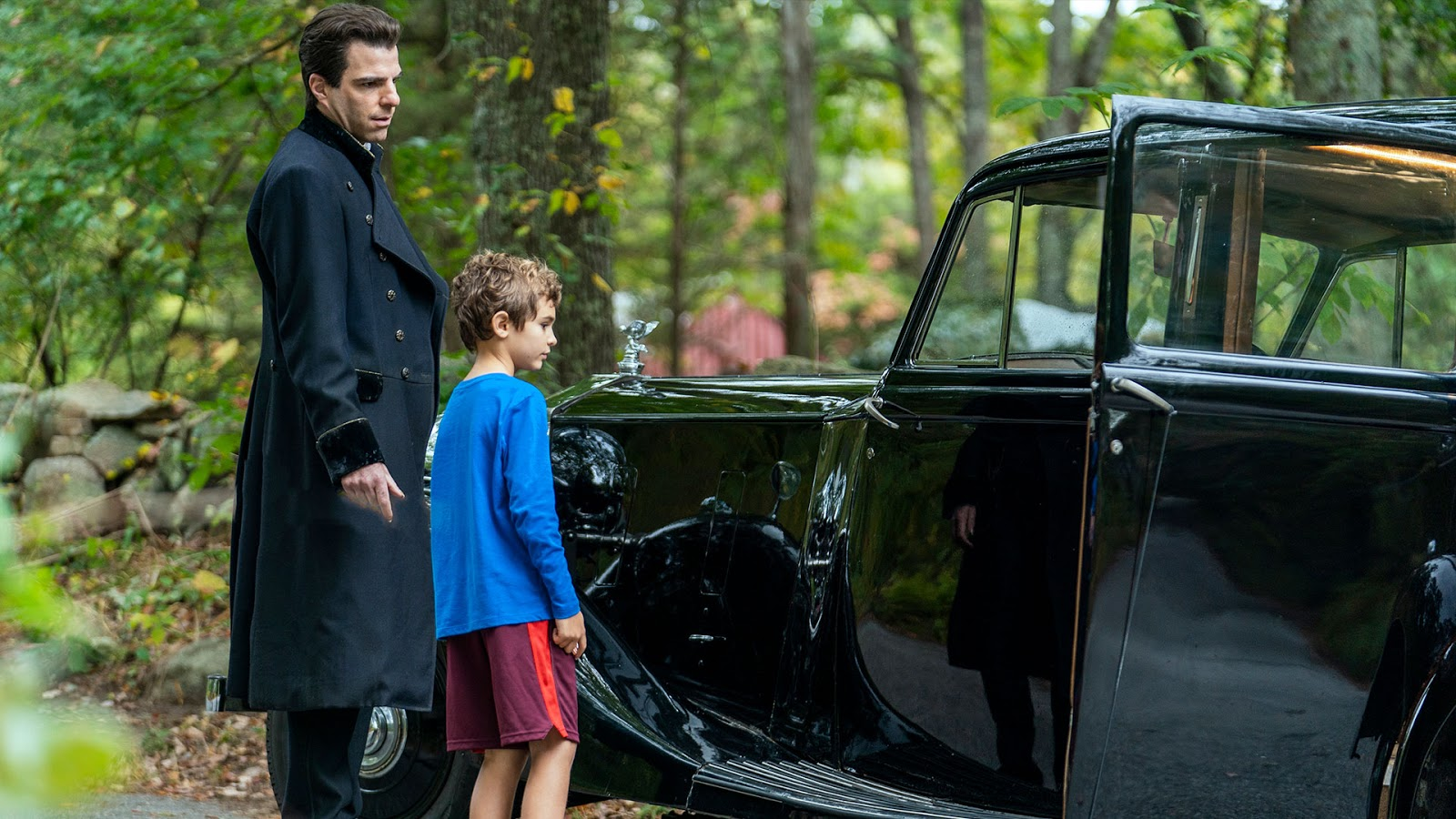 Jason David is Wayne McQueen and Zachary Quinto is Charlie Manx | NOS4A2 The Night Road | Season 2 episode 3