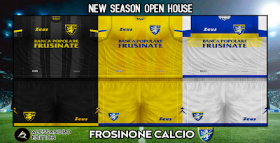 PES 6 Kits Frosinone Calcio Season 2018/2019 by Alessandro