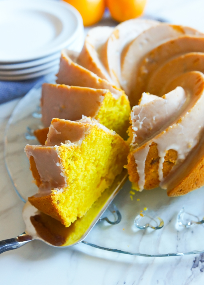 Meyer Lemon, Ginger, and Turmeric Cake | bakeat350.net for The Pioneer Woman Food & Friends