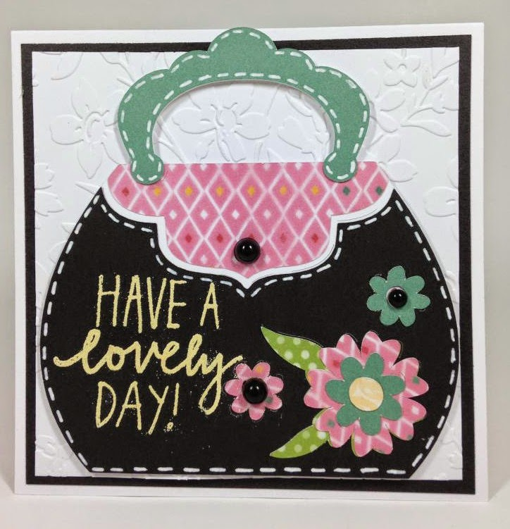 Cricut Handbag Lovely Day card