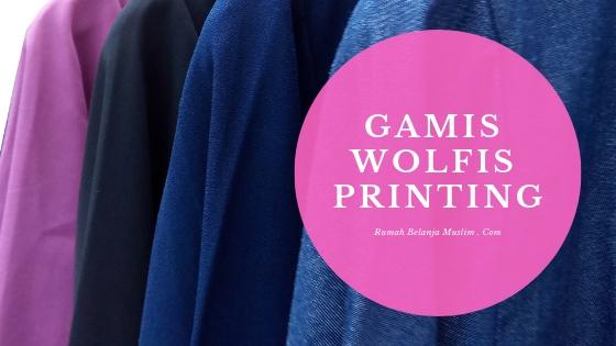 Gamis Akhwat Wolfis Printing