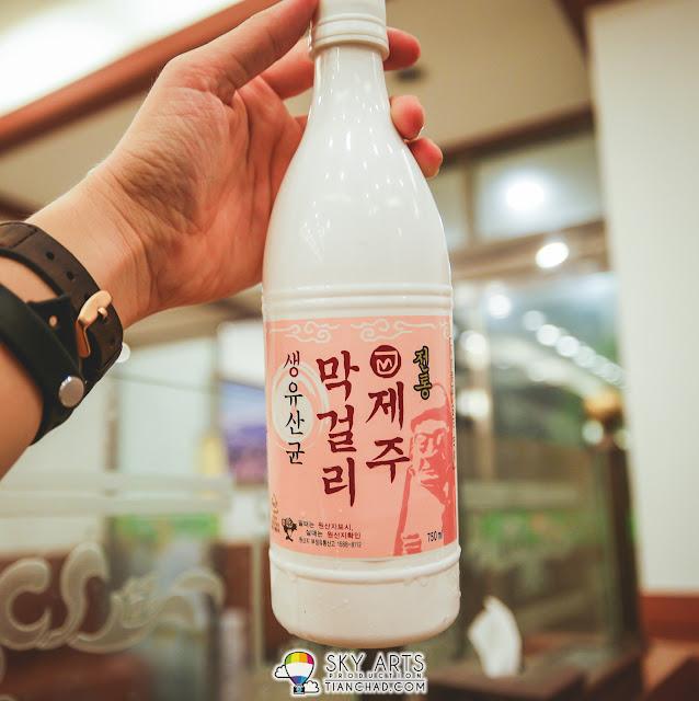 Available rice wine in Neulbom Black Pork (늘봄흑돼지)