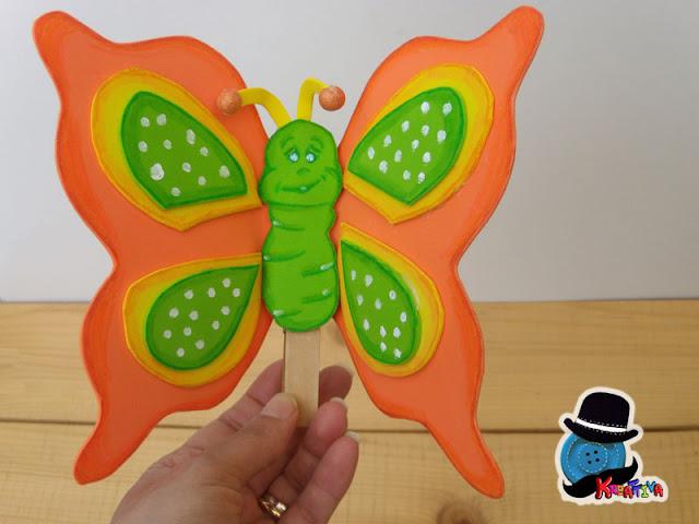 farfalla in gomma crepla su molletta