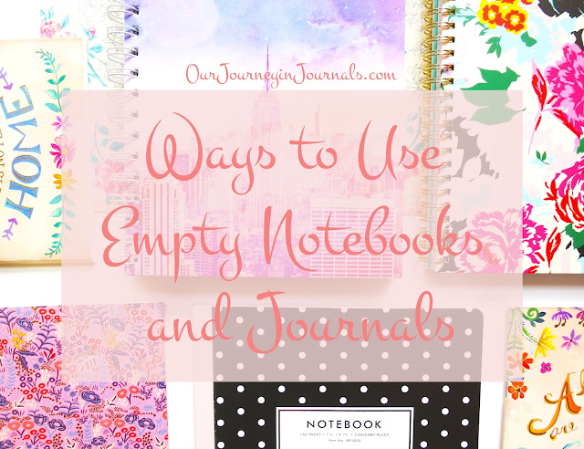 Ways to Use Empty Notebooks and Journals
